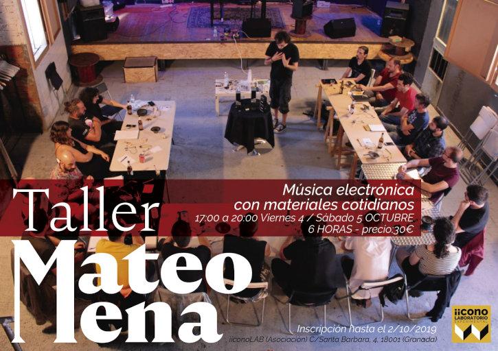 Taller con Mateo Mena en la Asociación iicono|LAB