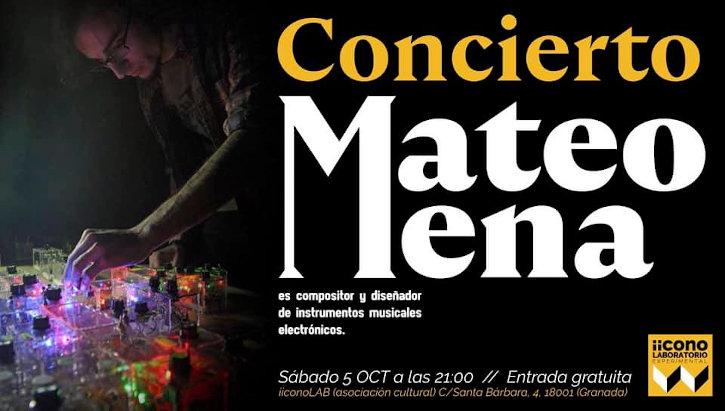 Mateo Mena - Concierto 5 de octubre de 2019 en iicono