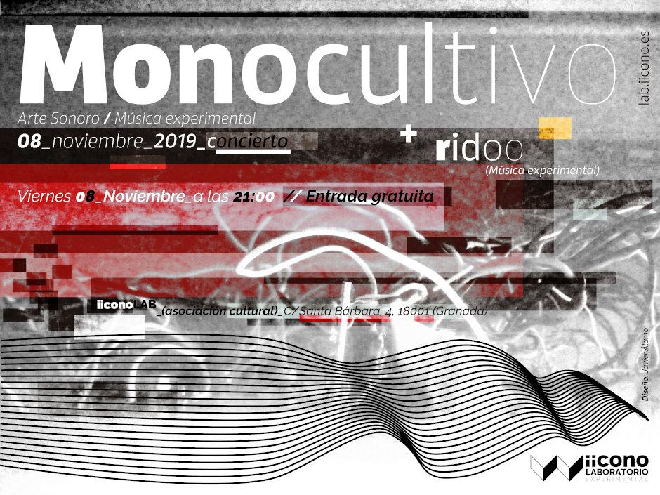 Cartel Concierto Monocultivo en la sociación iicono|LAB